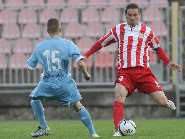 Přátelské utkání brněnské Zbrojovky a Slovanu Bratislava - vpravo Petr Švancara.