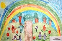 Výstava dětských kreseb, který nese název Namaluj krajinu, ve které bys chtěl žít.