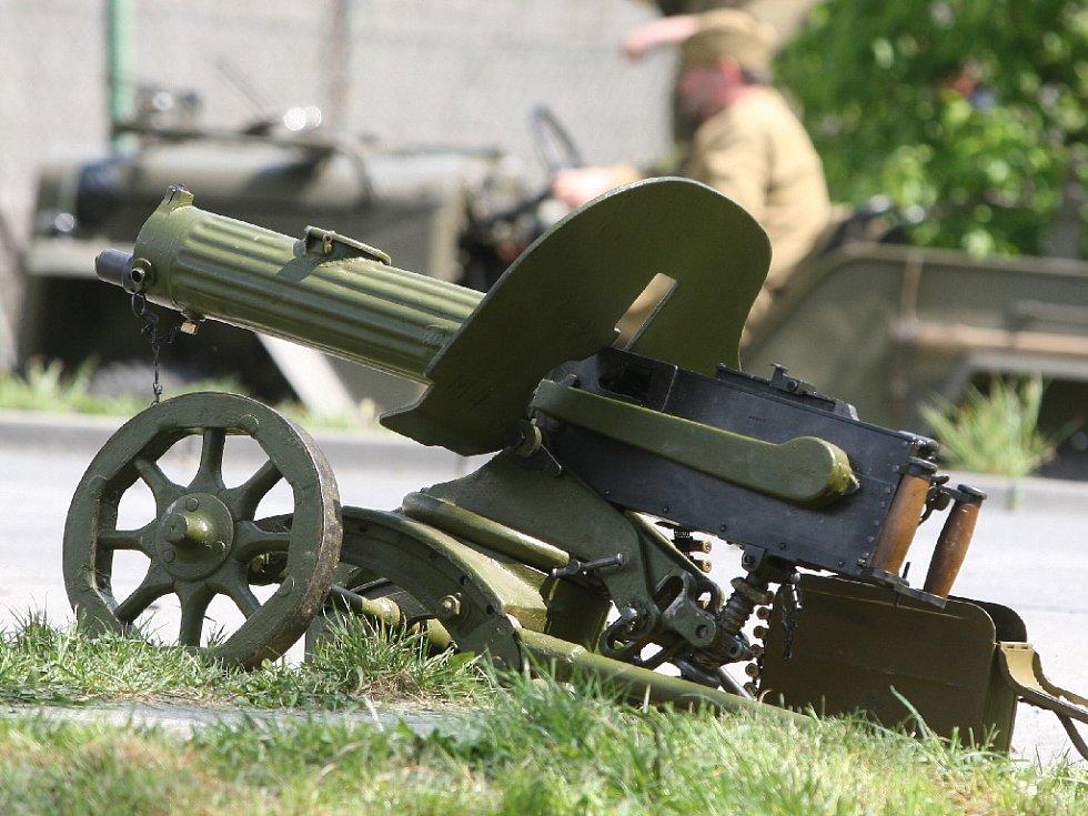 Rekonstrukce bitvy v Babicích nad Svitavou.