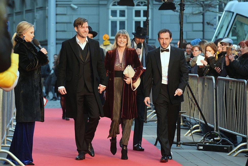 Brno 12.3.2019 - Slavnostní premiéra filmu Skleněný pokoj v brněnském univerzitním kině Scala - Vladimír Polívka, Chantal Poullain a Martin Hofmann.