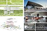 Marc Mimram Architecture & Associés (Paříž): Nádraží vysokorychlostních vlaků, Montpellier, Francie. Vizualizace.