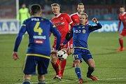 Zápas 15. kola první fotbalové ligy mezi FC Vysočina Jihlava a FC Zbrojovka Brno