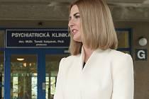 Kateřina Zemanová vyrazila na prohlídku Psychiatrické kliniky Fakultní nemocnice v brněnských Bohunicích.
