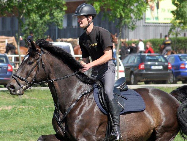 Policisté se utkali v koňských závodech