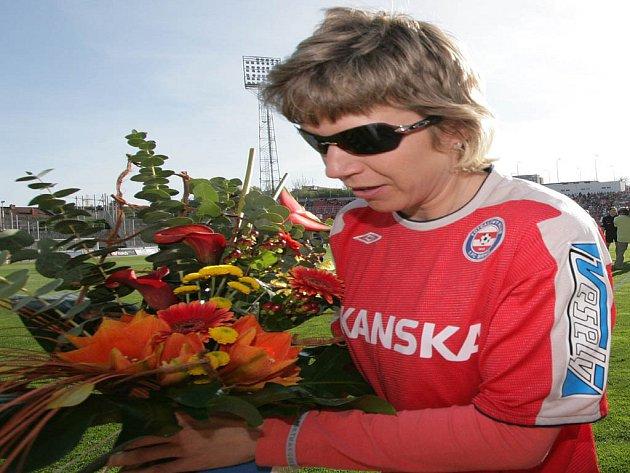 Fotbalovému zápasu s Olomoucí přihlížela i čestná prezidentka 1. FC Brno Kateřina Neumannová.