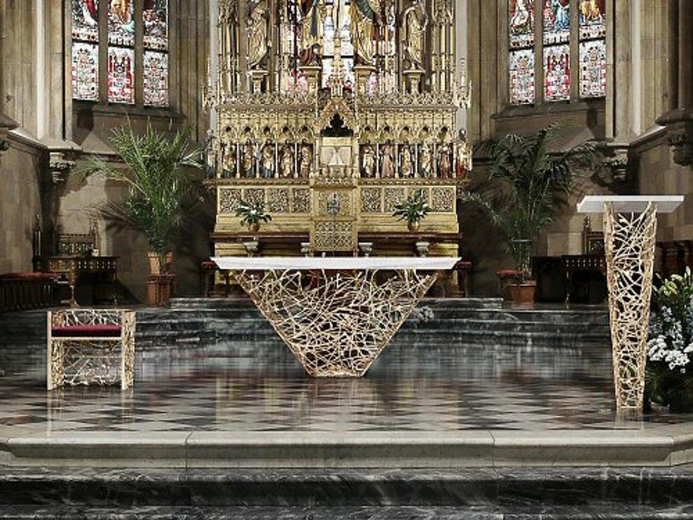 Návrh nového presbytáře na Petrově.