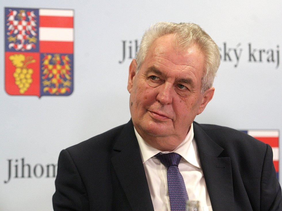 Prezident Zeman v Mikulově.