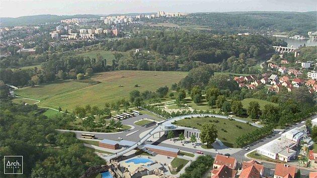 Návrh nového vstupního areálu do brněnské zoo.