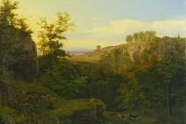 Tuto krajinomalbu Antonína Mánese bude brněnský aukční dům Zezula dražit s vyvolávací cenou 750 tisíc korun.