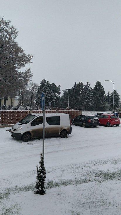 """""""Měnín, Brno venkov. A už nedojel pekař :-D Zřejmě mají silničáři Home Office."""""""