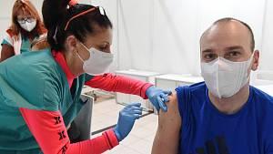 Očkovací centrum na brněnském výstavišti
