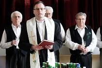 Svěcení mladého vína v Přísnoticích.