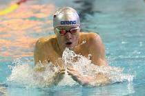 Velká cena města Brna v plavání. Mladá naděje Marek Osina překonal rekord soutěže na polohové dvoustovce.