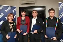 Podpis koaliční dohody vládnoucích stran na brněnském magistrátu.