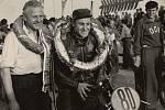 Už při čtvrtém ročníku v Brně v roce 1954 zazářil tehdy šestadvacetiletý František Šťastný, jenž ovládl závod dvě stě padesátek a i jižní Morava tak poprvé spatřila největší českou hvězdu motocyklové historie.