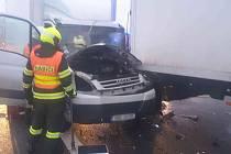 Nehoda zablokovala provoz na 200. kilometru D1 ve směru na Ostravu.