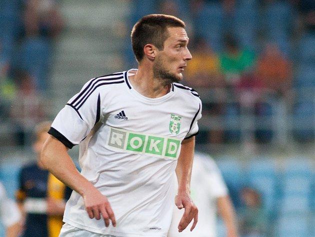 Mihailo Jovanovič ještě v dresu Karviné.