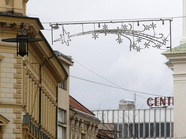 Vánoční výzdoba v centru Brna.