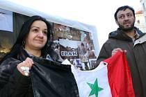 Demonstrace proti válce v Iráku.