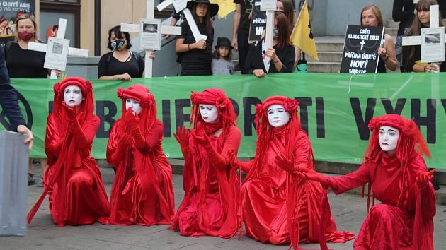 Pochod za vyhynulá zvířata. Necháme se klidně zatknout, křičeli rebelové v Brně
