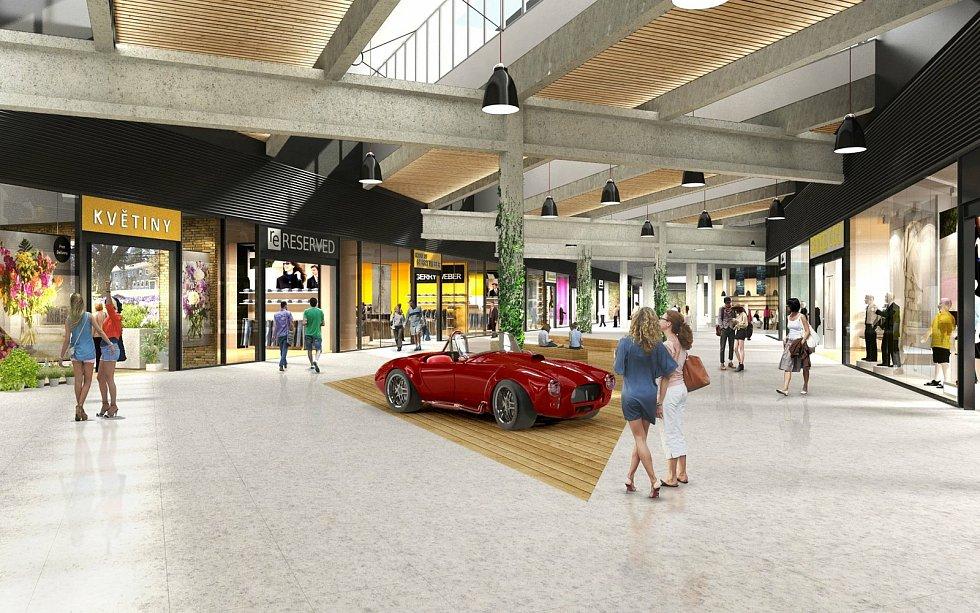 Obchodní centrum Futurum letos prochází rekonstrukcí.