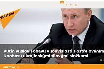 Webový portál Sputnik.