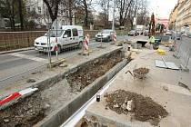 Oprava silnice v brněnské ulici Koliště - ilustrační foto.