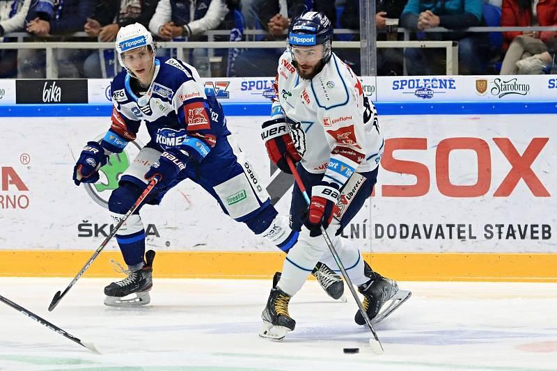 Hokejisté Komety přivítali v dohrávce Liberec.