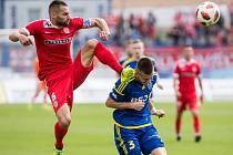 Fotbalové utkání 30. kola mezi FC Vysočina Jihlava a FC Zbrojovka Brno.