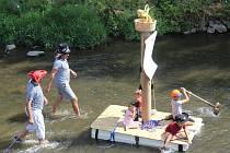 Neckyáda na řece Svitavě.