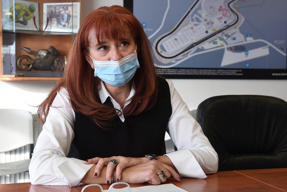 Ředitelka Automotodromu Brno Ivana Ulmanová.