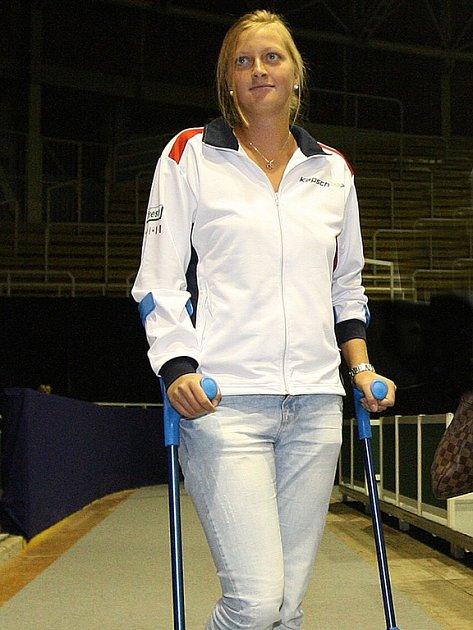 Zraněná Petra Kvitová.
