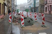 Zemní práce v ulici Veveří v Brně,  ilustrační foto