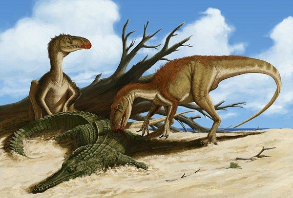 Rekonstrukce podoby dinosaura skupiny Tetanurae.