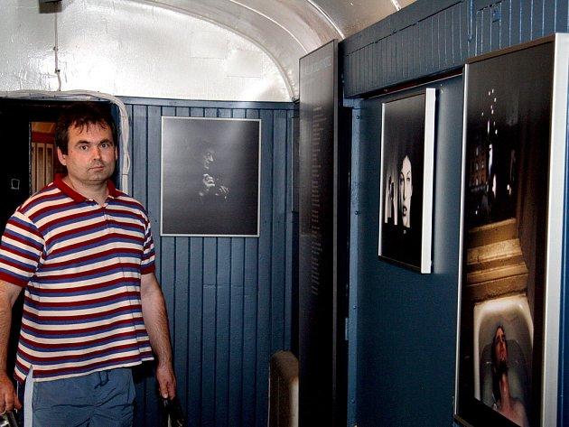 Jeden z návštěvníků výstavy