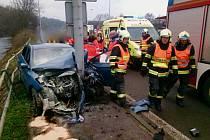 Nehoda osobního auta v brněnské ulici Poříčí.