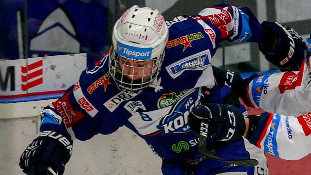 Hokejový obránce Filip Král.