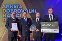 V brněnském Bobycentru vyhlásili ve středu večer vítěze ankety Dobrovolní hasiči roku 2019. Nejlepší jihomoravská jednotka dobrovolných hasičů je z Drnovic.