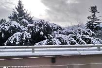 Jako v pohádce. Masarykovu čtvrť pod sněhem zachytila Libuše Vařáková