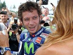 Italský motocyklový závodník Valentino Rossi.
