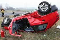Dopravní nehoda na křižovatce Chrlice – Rebešovice.