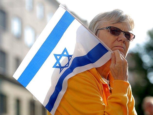 Brňané se sešli na podporu Izraele proti Hamásu.