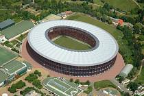 Vizualizace podoby stadionu za Lužánkami z roku 2008. Projekt bylo třeba upravit, aby odpovídal současným požadavkům.