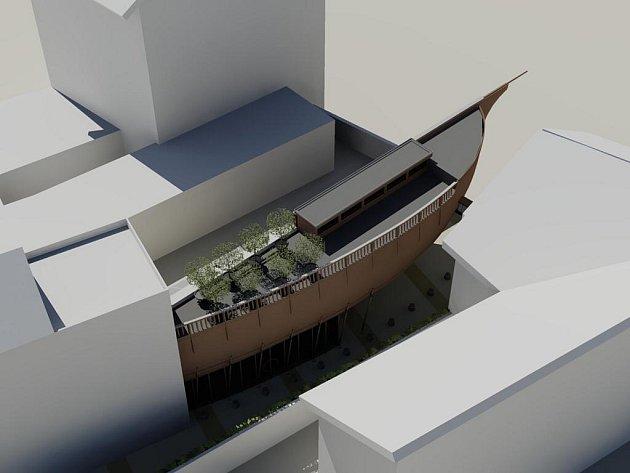 Neobvyklý tvar budovy zvolili architekti, kteří naplánovali nové muzeum loutek. To vyroste do konce letošního roku vedle divadla Radost v Bratislavské ulici.
