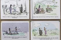 Spojující téma hudby a různé výtvarné přístupy, různé druhy humoru. Přes tři stovky kreslených hudebních vtipů známých českých autorů zaplnilo brněnské Semilasso.