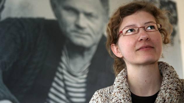 Kurátorka výstavy Bohumil Hrabal Brněnské návraty Andrea Vítová.
