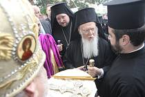 Nejvyšší autorita pravoslavné církve konstantinopolský patriarcha Bartoloměj.
