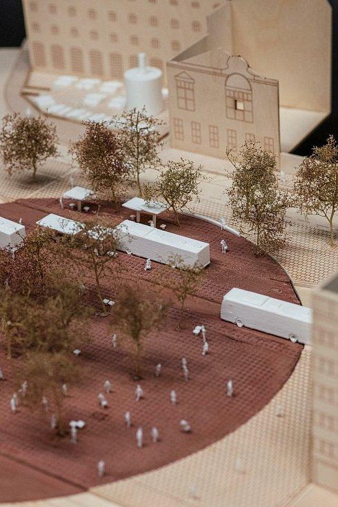 Model návrhu proměny Mendlova náměstí v Brně.