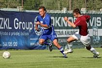 Hráči brněnské Líšně v zápase se Spartou Brno.