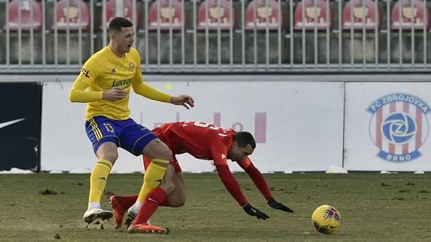 Fotbalisté Zlína hráli v Brně bez branek.